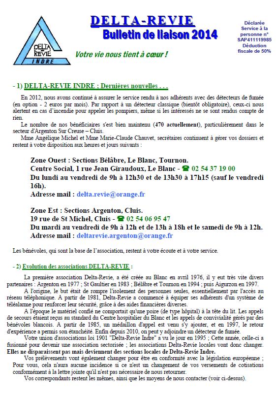 BULLETIN DE LIAISON 2014
